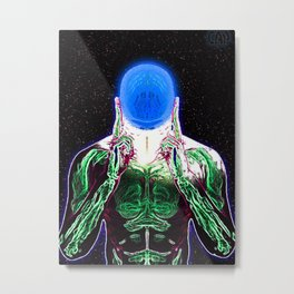 MIND #1 Psychedelic Meditation Vibrant Ethereal Design Metal Print