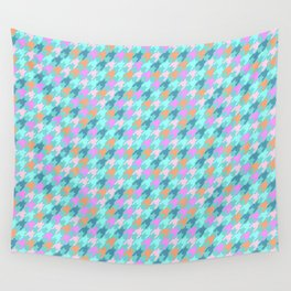 Playfull Houndstooth Wall Tapestry