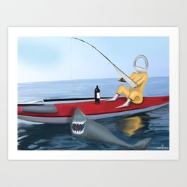 Corky's fishing Art Print