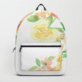 Blooms around geometry Backpack