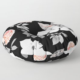 Night bloom - moonlit flame Floor Pillow
