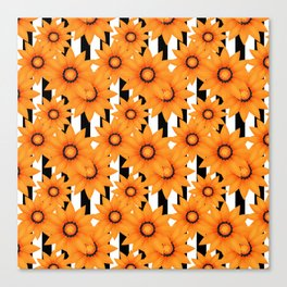 Yellow sunflowers . Canvas Print