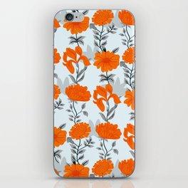 Tangerine floral  iPhone Skin
