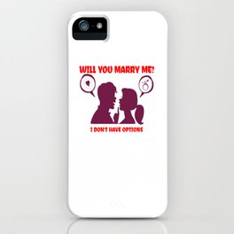 Funny Marriage Vows Proposal Advice Humor Help Announcement Quotes box iPhone Case