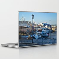 greek Laptop & iPad Skins featuring Greek Boats by M. Gold Photography