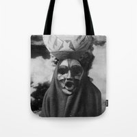 demon Tote Bags featuring Demon by Mrs Araneae