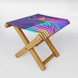 Llamita violeta by #Bizzartino Folding Stool