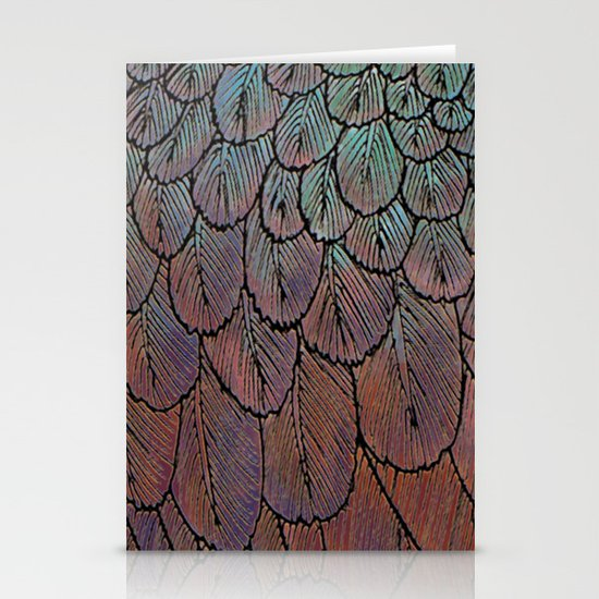 Feather Detail Stationery Cards