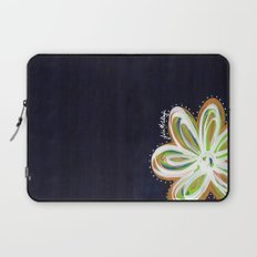 Navy and Gold Flower Laptop Sleeve