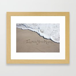 I Love You More Framed Art Print