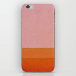 Orange, Pink And Gold Abstract Painting iPhone Skin