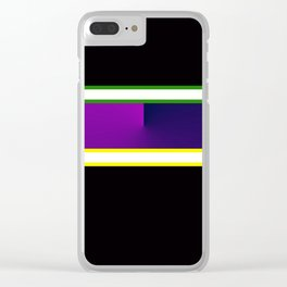 Team Colors 3,,,navy,purple,green and yellow Clear iPhone Case