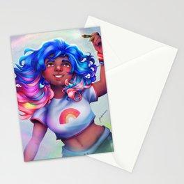 Rainbow Girl Stationery Cards