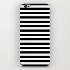 Stripe Black & White Vertical iPhone Skin