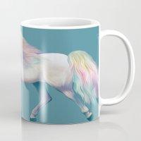 unicorn Mugs featuring Unicorn by ShannonPosedenti