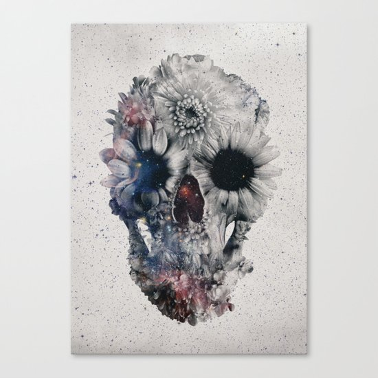 Floral Skull 2 Canvas Print