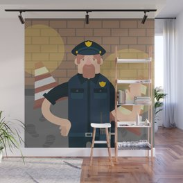 Police officer Wall Mural