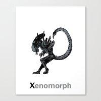 xenomorph Canvas Prints featuring Xenomorph by James Courtney-Prior