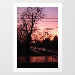 Sunset on Elm St.  Art Print