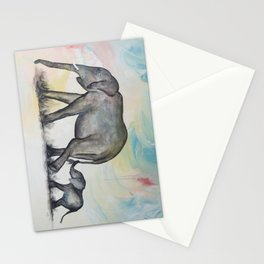 Love over Time Elephants Stationery Cards