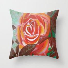 Single Rose Throw Pillow
