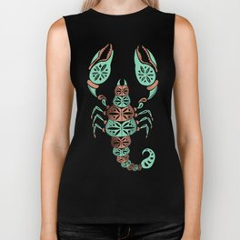 Scorpion – Mint & Rose Gold Biker Tank