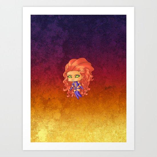 Chibi Starfire Art Print