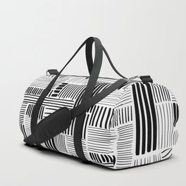 Black and White Abstract Pattern Duffle Bag