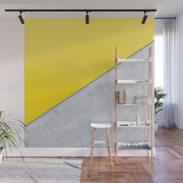 Yellow & Gray Abstract Background Wall Mural