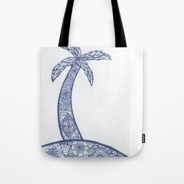 Palm Tree Zentangle Tote Bag