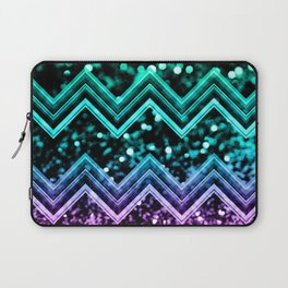 Unicorn Glitter Chevron #4 #shiny #decor #art #society6 Laptop Sleeve