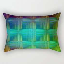 Square pattern colored Rectangular Pillow