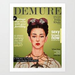 Demure Frida Art Print