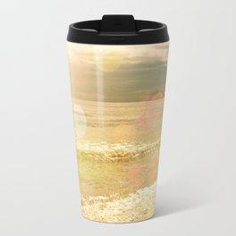 Beach Bokeh Travel Mug
