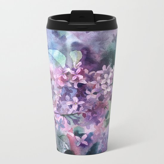 Lilac Metal Travel Mug