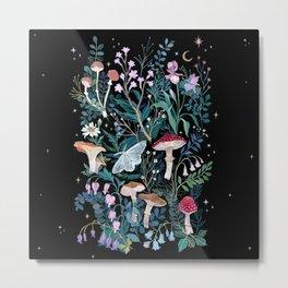 Night Mushrooms Metal Print