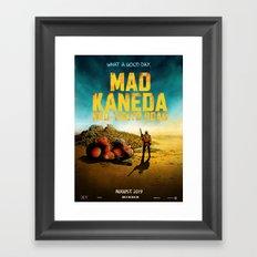 Mad Kaneda Neo-Tokyo Road Framed Art Print