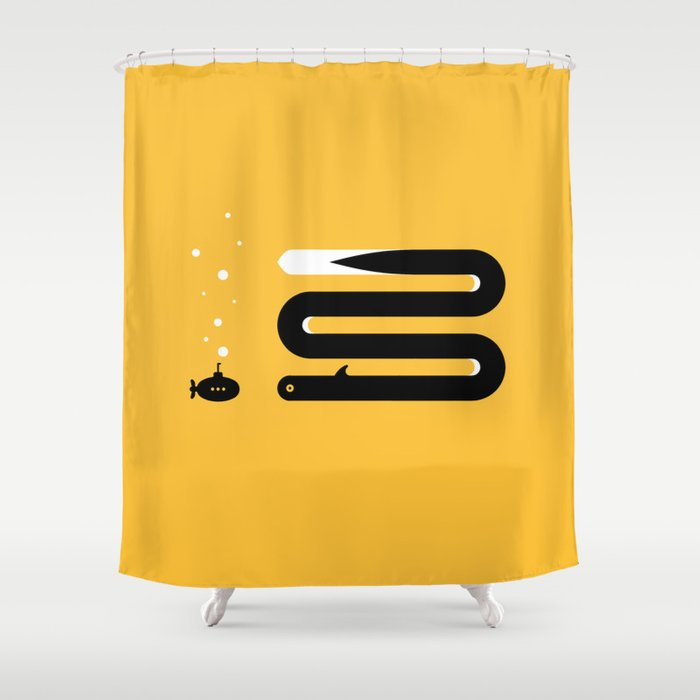 ENCOUNTER - eel Shower Curtain