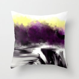 Broken Falls by the Purple Trees Throw Pillow