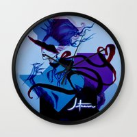ultraviolence Wall Clocks featuring C Y B E R_A N T O I N E T T E by Jetzain