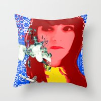 her art Throw Pillows featuring HER by Lisamce