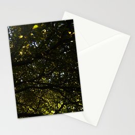 Silhouetted Leaves Abstract Stationery Cards