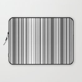 Abstraction black and white stripes Laptop Sleeve