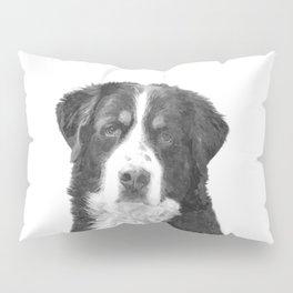 Black and White Bernese Mountain Dog Pillow Sham