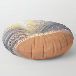Tropical Sunset Reflecting On Ocean Surface Floor Pillow