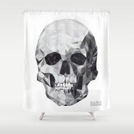 Geometric Skull Shower Curtain