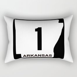 Arkansas State, road sign Rectangular Pillow
