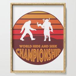 Bigfoot vs Minotaur World Hide and Seek Championship Serving Tray