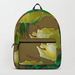 ARTISTIC YELLOW ROSE HARMONICS DRAWING Backpack