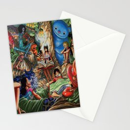 One piece of sleep with friends Stationery Cards